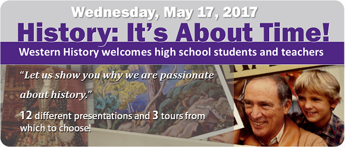 History It's About Time high school history conference hosted on May 17